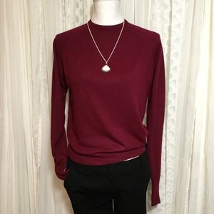 Vintage burgundy hickory house sweater size small